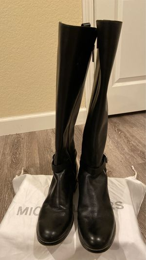 Michael Kors black leather boots size 6.5 for Sale in San Dimas, CA