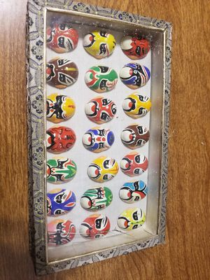 Chinese or Japanese Mini Opera Masks - Decorative 21 Piece Set for Sale in Anaheim, CA