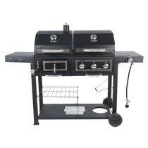 RevoAce Dual Fuel Gas & Charcoal Combo Grill, Black with Stainless for Sale in Garland, TX