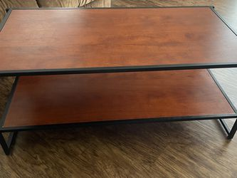 Redwood and Metal Coffee Table for Sale in Ballwin,  MO