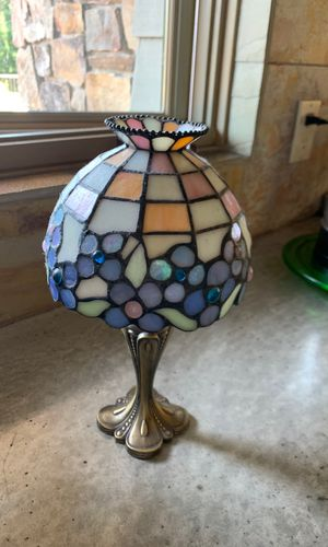 Gorgeous Stain Glass Candle Holder (Heavy) for Sale in Stanwood, WA