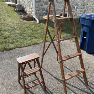 5' & 2' Vintage Wood Step Ladders for Sale in Lancaster, PA