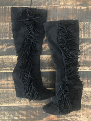 High Top Boots, Fringed with Zip 7 for Sale in Broken Arrow, OK