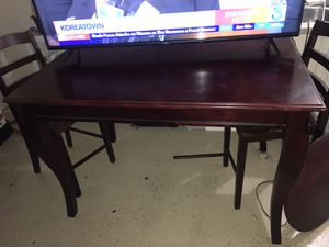 Table with 4 chairs with lazy Susan and extender for Sale in Moreno Valley, CA