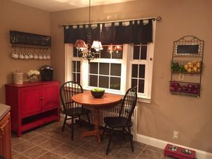 Rustic Country Red Storage Cabinet Coffee Bar for Sale for sale  Madison, NJ