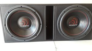 Massive Audio GTX12inch woofers in pro ported box for Sale in Houston, TX