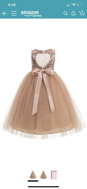 Girl sequin rose gold dress 4T for Sale in Lynwood, CA