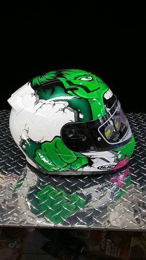 Incredible Hulk motorcycle Snell approved racing helmet for Sale in Los Angeles, CA