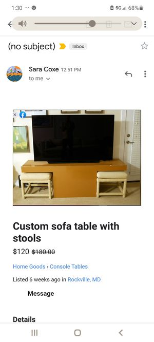 Console Table and Stools for Sale in Rockville, MD