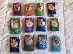 1998 Mc Donald's Ty Beanie Babies Original Complete Set Opened for Sale in San Marcos, CA