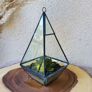 Glass plant box or candle holder for Sale in San Diego, CA