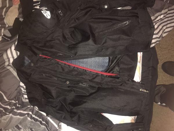 Motorcycle helmet and jacket