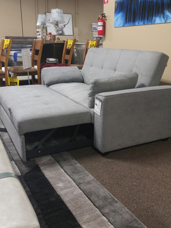 Brand New Gray fabric Sofa Sleeper Couch
