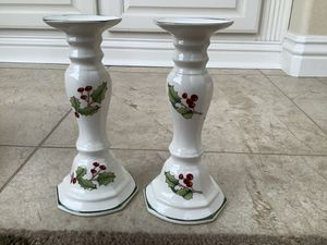 Sanyo white Christmas candle holders. Made in Japan. for Sale in Chula Vista, CA