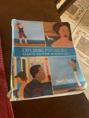 Exploring psychology 8th edition for Sale in Phoenix, AZ