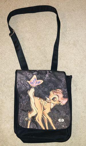 """Bambi Butterfly Messenger Bag Disney Store Shoulder Bag 14"""" X 12"""" for Sale in Metuchen, NJ"""