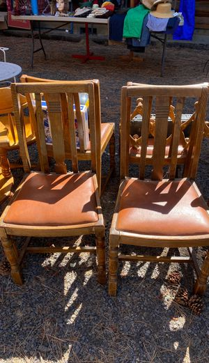 Vintage wood dining room chairs for Sale in Bend, OR