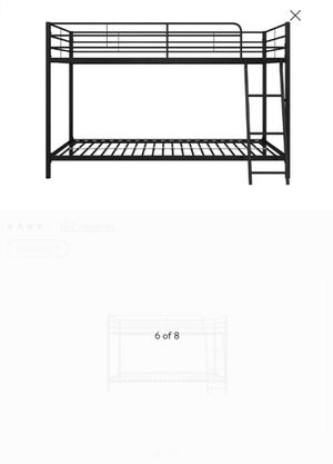 New twin bunk bed frame mattresses not included black for Sale in Charlotte, NC