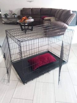 Dog cage kennel CLEAN brand new never used double door foldable X Large Crate House pets Phoenix for Sale in Phoenix,  AZ
