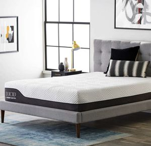 LUCID 12 Inch Twin XL Hybrid Mattress - Bamboo Charcoal and Aloe Vera Infused Memory Foam - Motion Isolating Springs - CertiPUR-US Certified for Sale in Columbus, OH