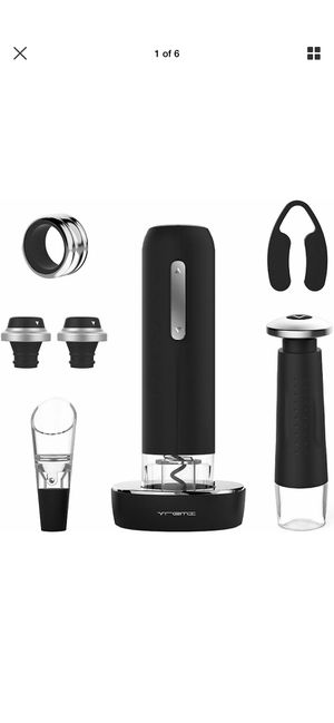Vremi 9 Piece Wine Gift Set - Electric Opener, Vacuum Pump, Aerator, Stoppers for Sale in Industry, CA