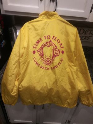 Stephen King IT small raincoat Jacket Men coat for Sale in Gaithersburg, MD