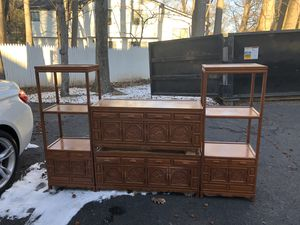 Bookshelves for $95 and TV stands for $75 for Sale in Closter, NJ