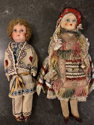 Vintage dolls, elaborate embroidered dress for Sale in West Chester, PA