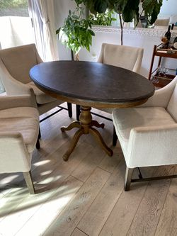 Restoration Hardware Wood & Marble Table for Sale in Los Angeles,  CA