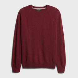Banana Republic Burgandy Supina Cotton Crew Neck Long Sleve Sweater Size Small for Sale in Fort Bliss,  TX