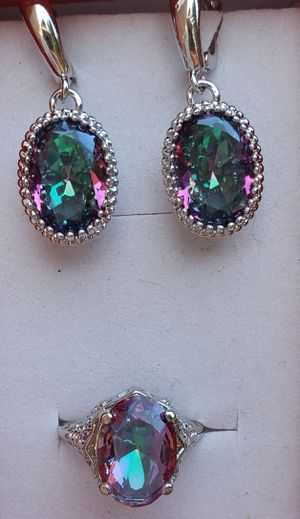 Sterling silver mystic topaz ring and earrings for Sale in Baltimore, MD