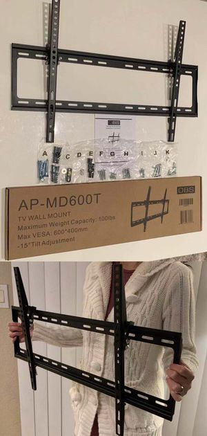 """New LCD LED Plasma Flat Tilt TV Wall Mount stand 32 37"""" 40"""" 42 46"""" 47 50"""" 52 55"""" 60 65"""" inch tv television bracket 100lbs capacity for Sale in San Dimas, CA"""