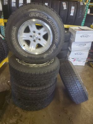 Jeep Factory Tire and Wheels set of 5 for Sale in Everett, WA