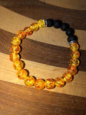 Amber lava stone bracelet for Sale in Stockton, CA