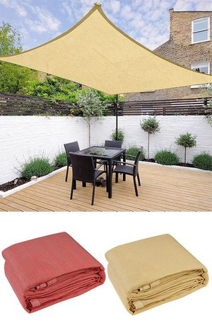 New $40 each Square 16'x16' Sun Shade Sail Outdoor Canopy Patio Top Cover (Tan or Red) for Sale in South El Monte, CA