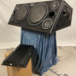 "Speaker Box w/ 2 10"" Kenwood Subs & Amp for Sale in Los Angeles, CA"