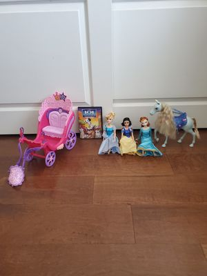 Set of Disney Barbies, Carriage, Horse, and 101 Dalmatians II Movie for Sale in San Dimas, CA