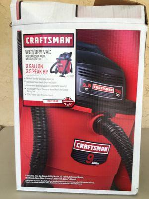 Craftsman 9 gallon Wet-Dry vac for Sale in Sarasota, FL
