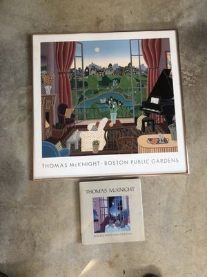 Thomas McKnight framed poster and book for Sale in Manalapan Township, NJ