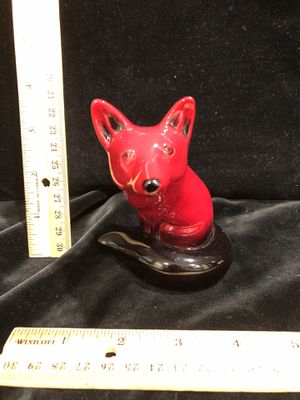 "Royal Doulton Flambé seated / sitting red fox 4"" tall for Sale in South Hill, WA"