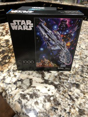 NEW AND SEALED Star Wars Millennium Falcon 1000 Piece Puzzle Buffalo Games for Sale in Davie, FL