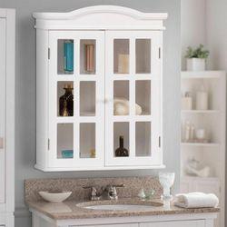 Bathroom Storage Cabinet Wall-Mount Medicine Organizer Double Doors Shelved for Sale in Arlington,  TX