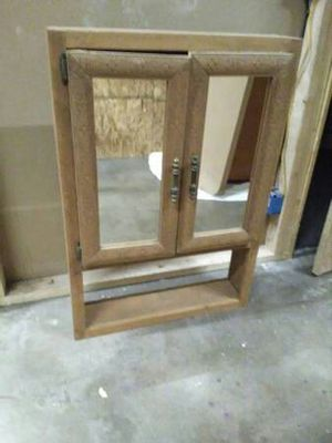 Large Rustic Wooden Mirror Cabinet Medicine Cabinet 36x25 for Sale in Oklahoma City, OK