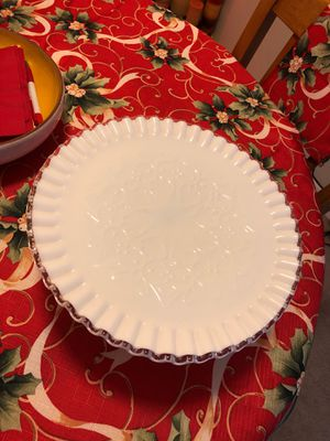 Antique Milk glass Cake stand for Sale in Gaithersburg, MD