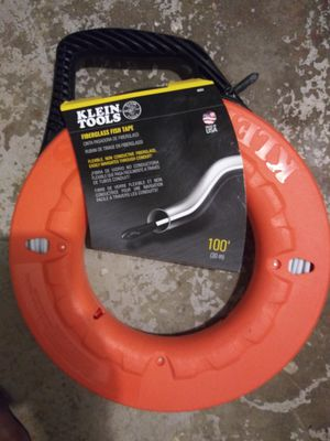 Klein Tools 100 ft Non-conductive Fiberglass Fish tape. for Sale in Fort Lauderdale, FL