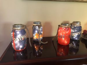 Custom Team or Seasonal/Holiday light up jars. for Sale in North Haven, CT