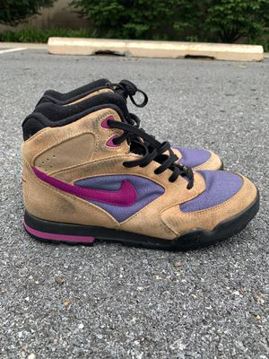 Vintage Retro 90's Nike Air Classic Brown Trail Hiking Boots Size 8.5 Men's for Sale in Laurel, MD