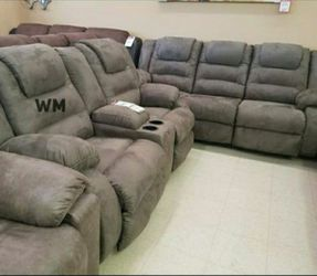 McCade Cobblestone Reclining Living Room Set SOFA And Loveseat for Sale in Round Rock,  TX