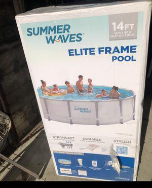 Summer waves 14ft elite frame pool for Sale in Fresno, CA