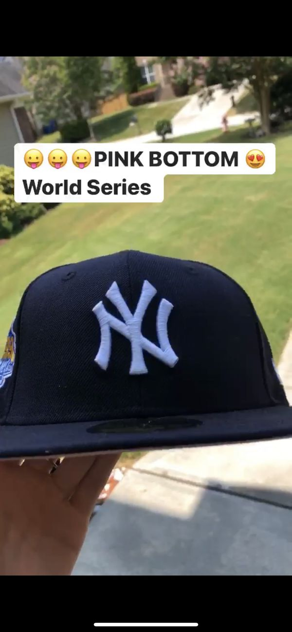 World Series Yankees Fitted Hat/ Pink Brim